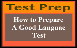 tips to create a good language test