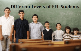 tips to teach different levels of EFL students