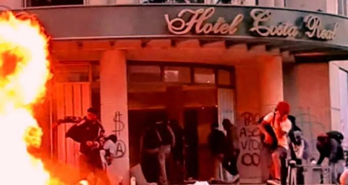 En Chile el vandalismo se impone