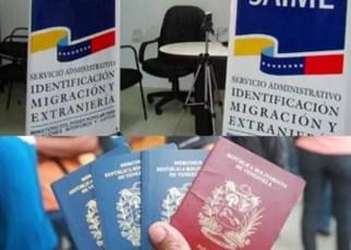SAIME vuelve a aumentar tasas de pasaportes y prórrogas en menos de dos meses