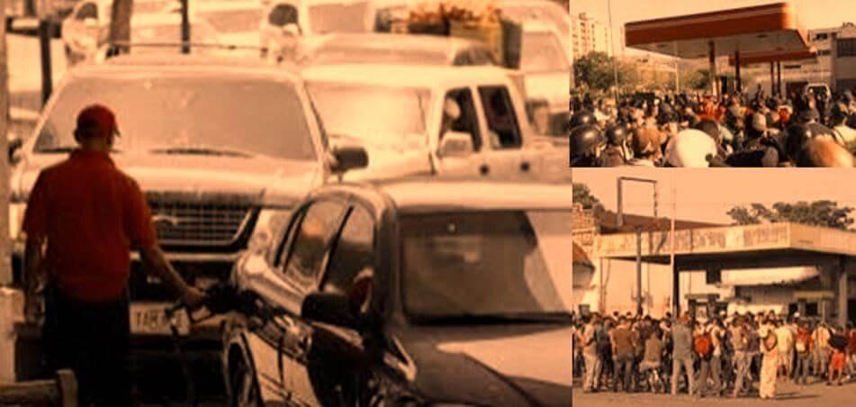 Colas masivas y protestas por gasolina en todo el país