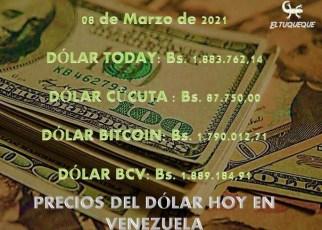 Precio del dólar hoy 08/03/2021 en Venezuela