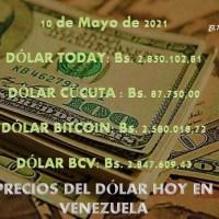 Precio del dólar hoy 10/05/2021 en Venezuela