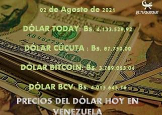 Precio del dólar hoy 02/08/2021 en Venezuela