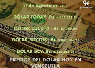 precio del dólar hoy 17/08/2021 en Venezuela
