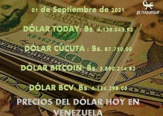 Precio del dólar hoy 01/09/2021 en Venezuela