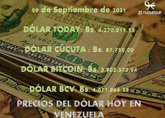 precio del dólar hoy 09/09/2021 en Venezuela