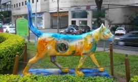 Monumento al gato del río de Cali, Colombia