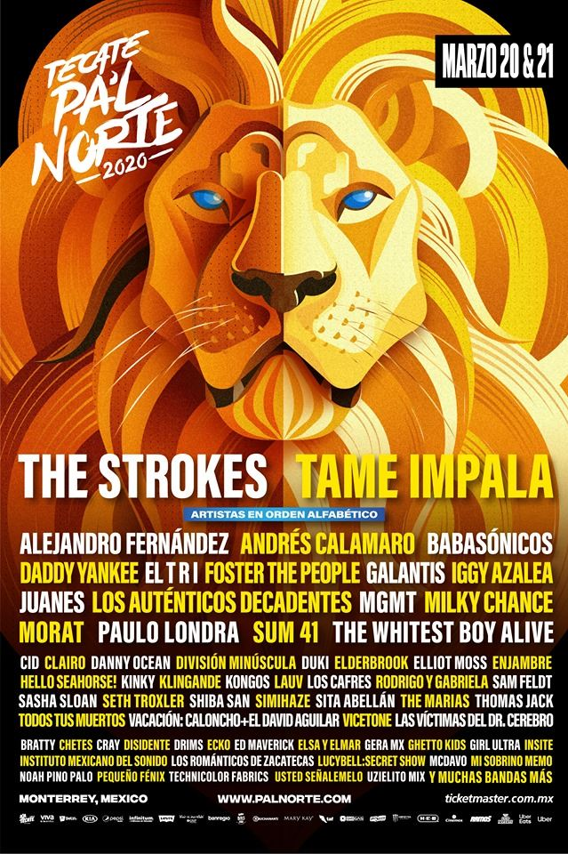 pal norte 2020 lineup tecate cartel