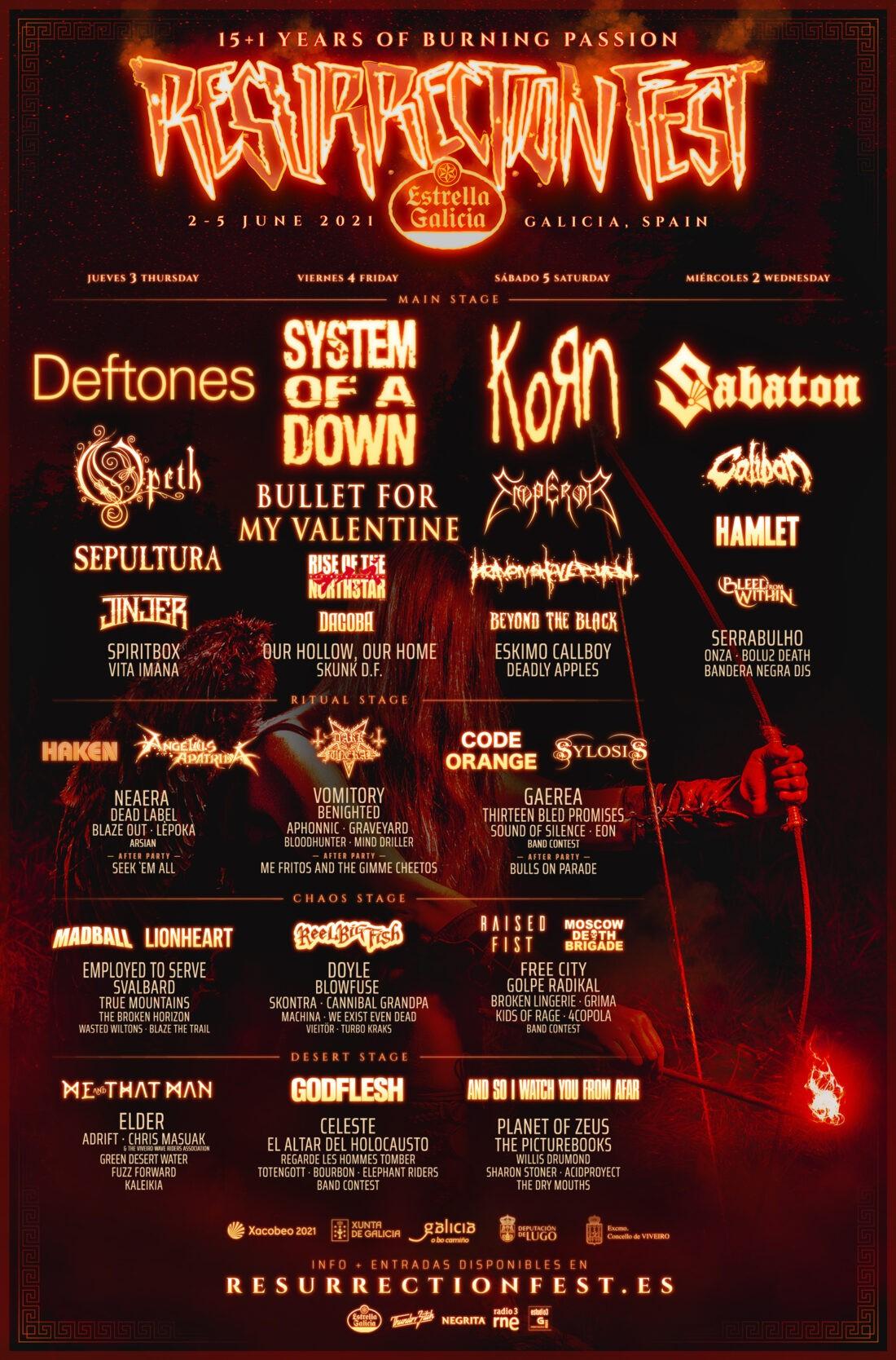 Resurrection Fest 2021: cartel por días y entradas a la venta 1