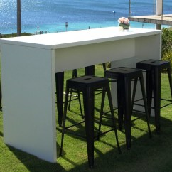 Outdoor High Table And Chairs Perth How To Build A Adirondack Chair White With Black Tolix Stools