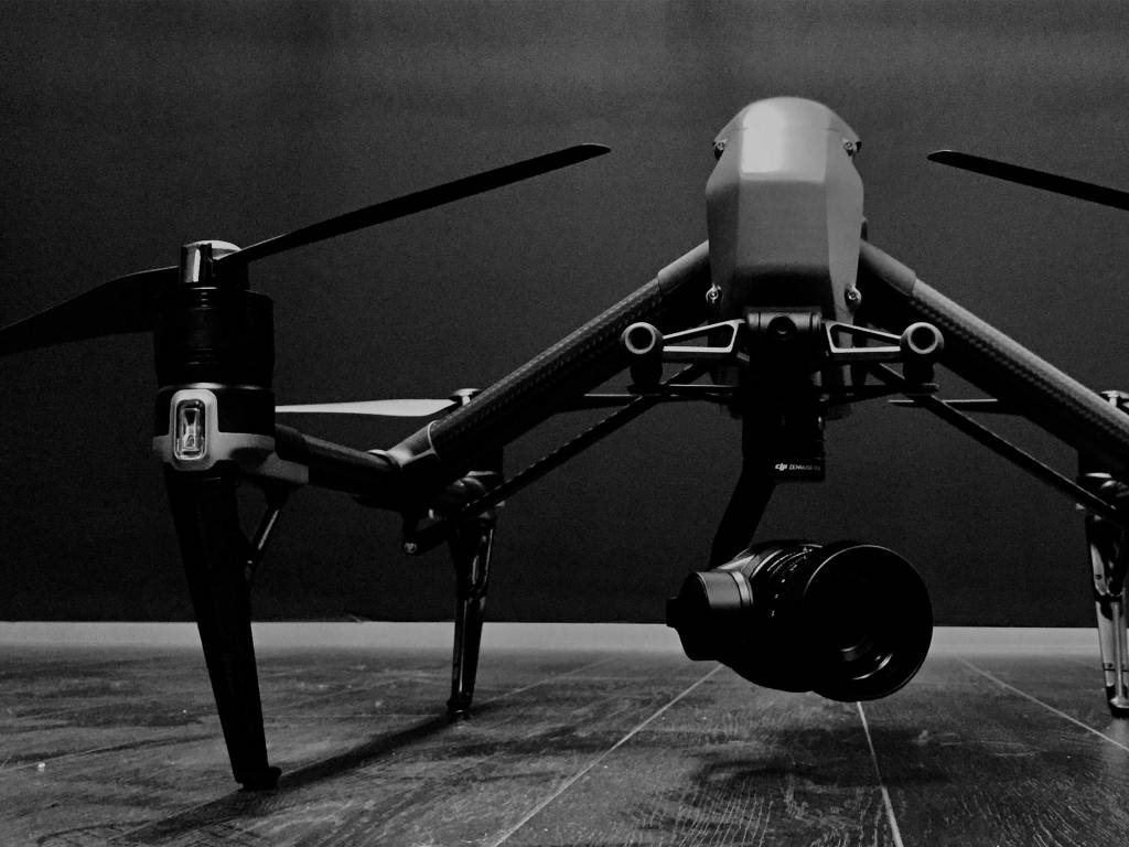 Close up of the DJI Inspire 2 drone