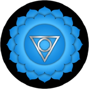 Vishuddha Throat Chakra - Chakra Meanings - Elune Blue (300x300)
