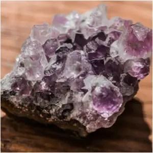 An amethyst gemstone.