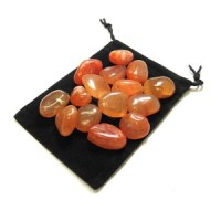 Tumbled Carnelian Stones | Zentron Crystal Collection | Elune Blue