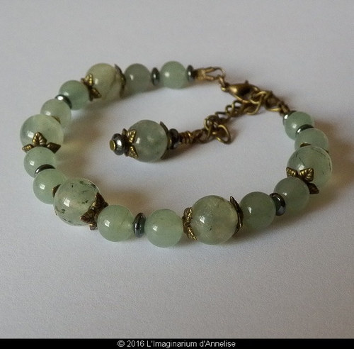 Aventurine contains speckles of quartz within it, attributing to an effect called aventurescence, which describes the reflective appearance of the stone. -- Green Aventurine Meaning