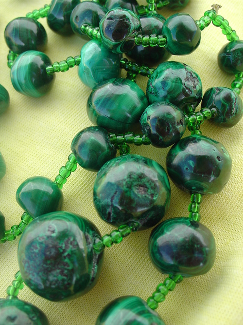 Malachite can be toxic and the dust can cause difficulty breathing among other complications.  The stone can be worn down by fluids, such as sweat and moisture.    -- Malachite Toxic