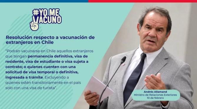 Resultado de imagen para Allamand vacuna solo para chilenos