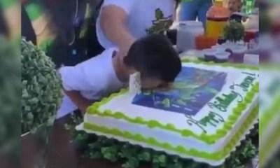 Niño torta de cumpleaños a8