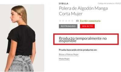 Productos no se prodran comprar 9199ABB13