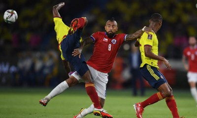Chile cayó por 3-1 ante Colombia .AGB7s1