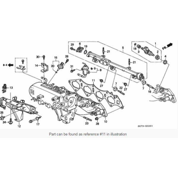 Honda OEM B Series B16A/B18CR intake manifold gasket