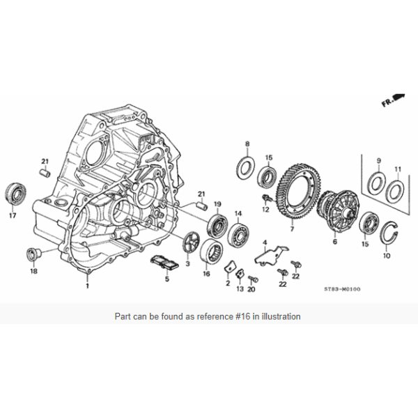 Honda OEM Transmission Final Drive Bearing Bseries