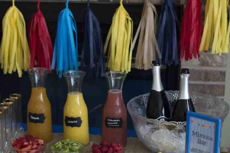 baptism mimosa bar juices