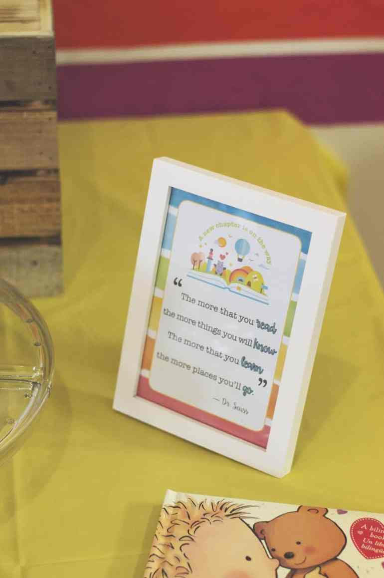 Rainbow Book Baby Shower Sign