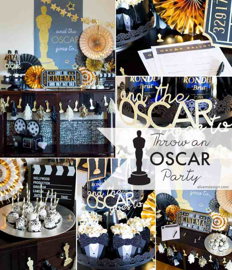 Throw an Oscar Party Collage