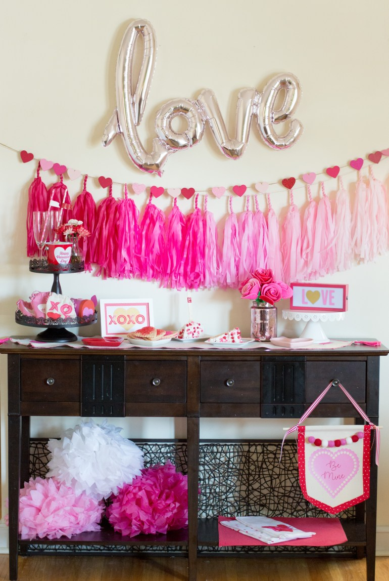 """""""Love"""" Valentine's Day Party Tablescape styled by Elva M Design Studio"""