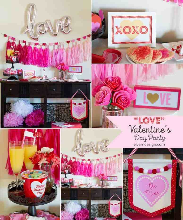 """Love"" Valentine's Day Party with Free Printable"