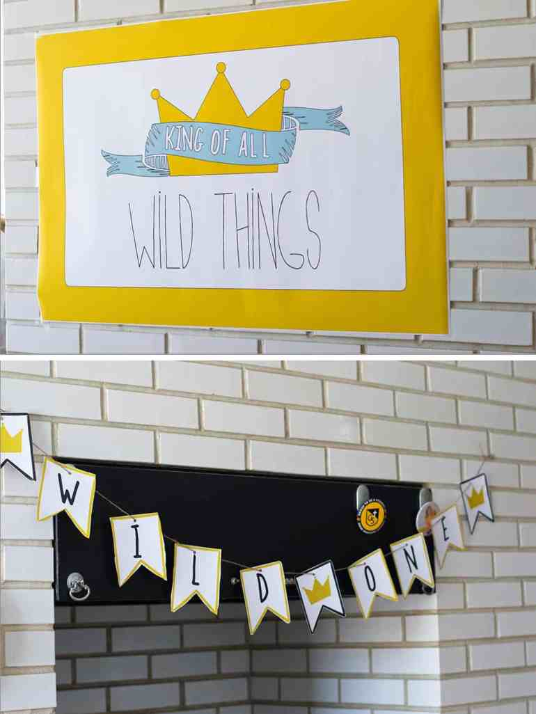 Where the Wild Things Are Baby Shower Party Printables from Elva M Design Studio