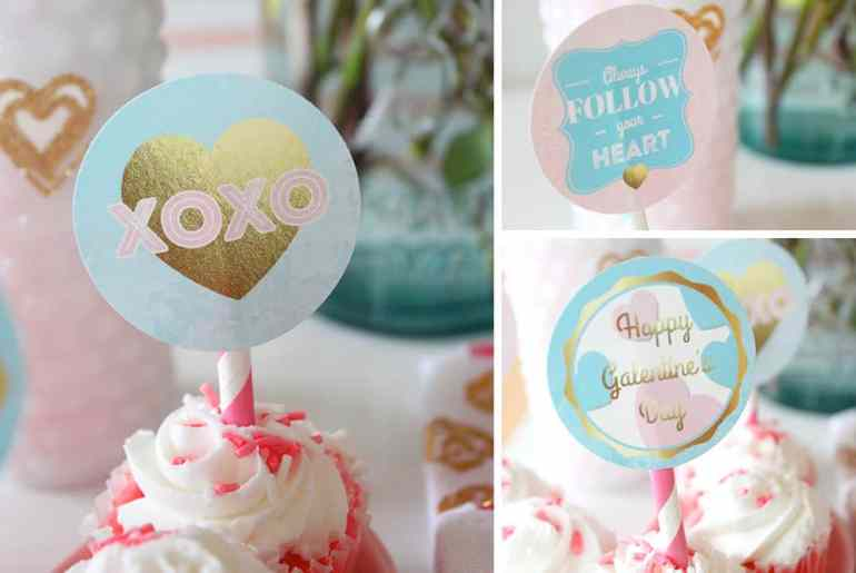 Always Follow Your Heart Cupcake Toppers