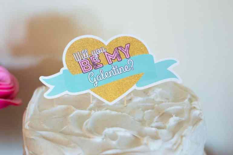 Galentine's Day Cake Topper
