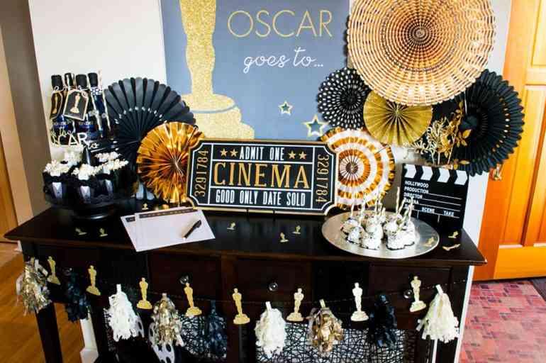 Oscar Party Table