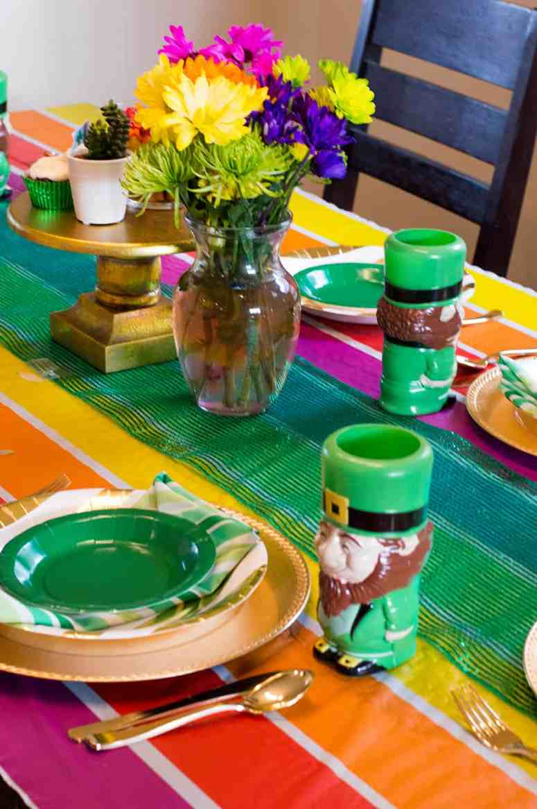 St. Patrick's Day Party Table Setting