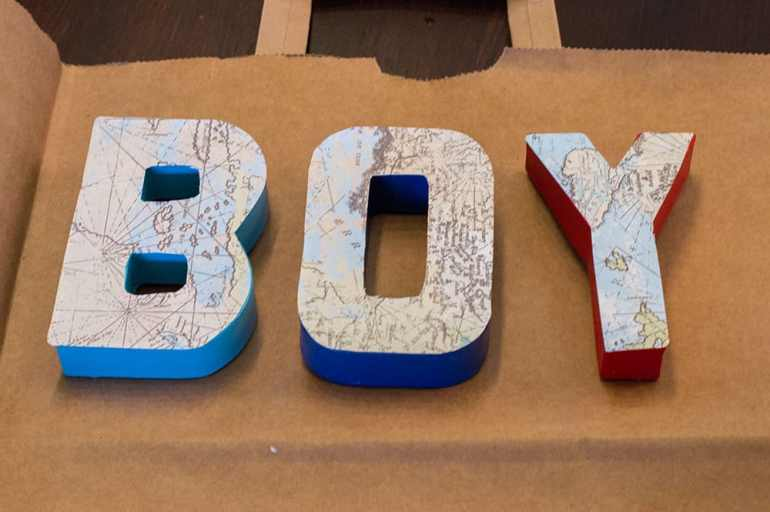 DIY Baby Shower Letters