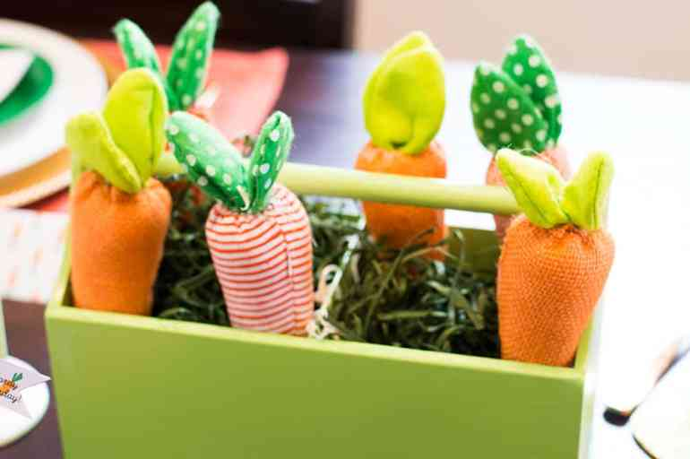 Carrot Patch Easter Table Centerpiece Decoration