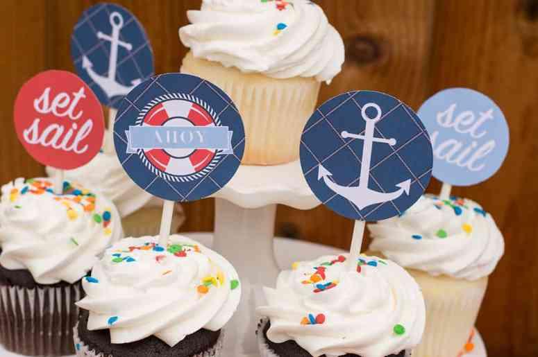 Free Nautical Cupcake Toppers