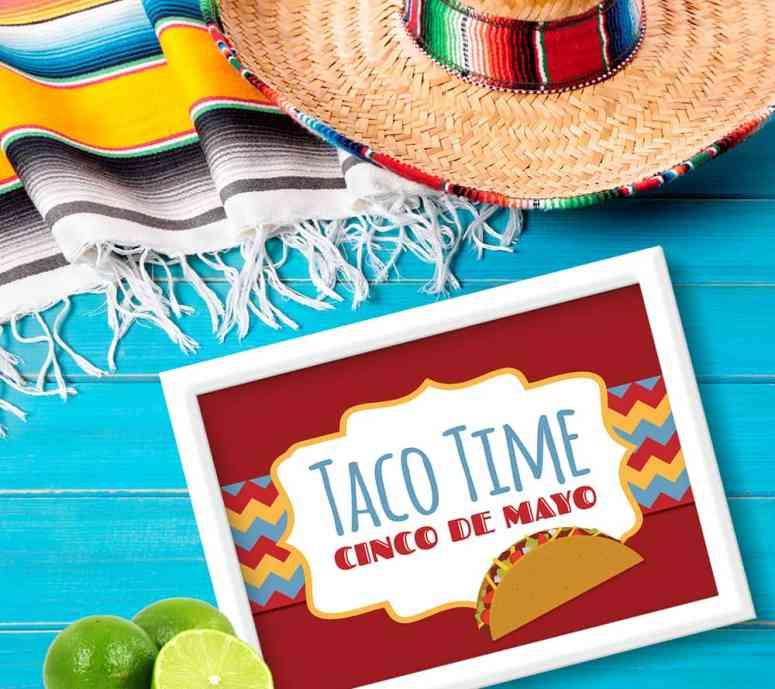 Taco Time Cinco De Mayo Party Sign