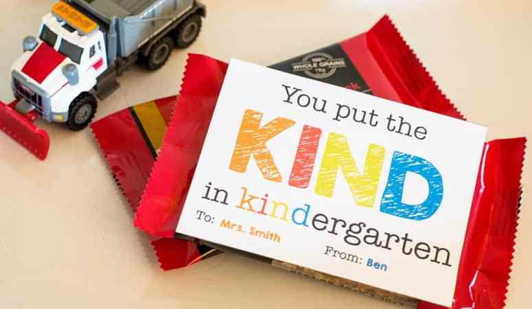 Kindergarten Teacher Appreciation Gift