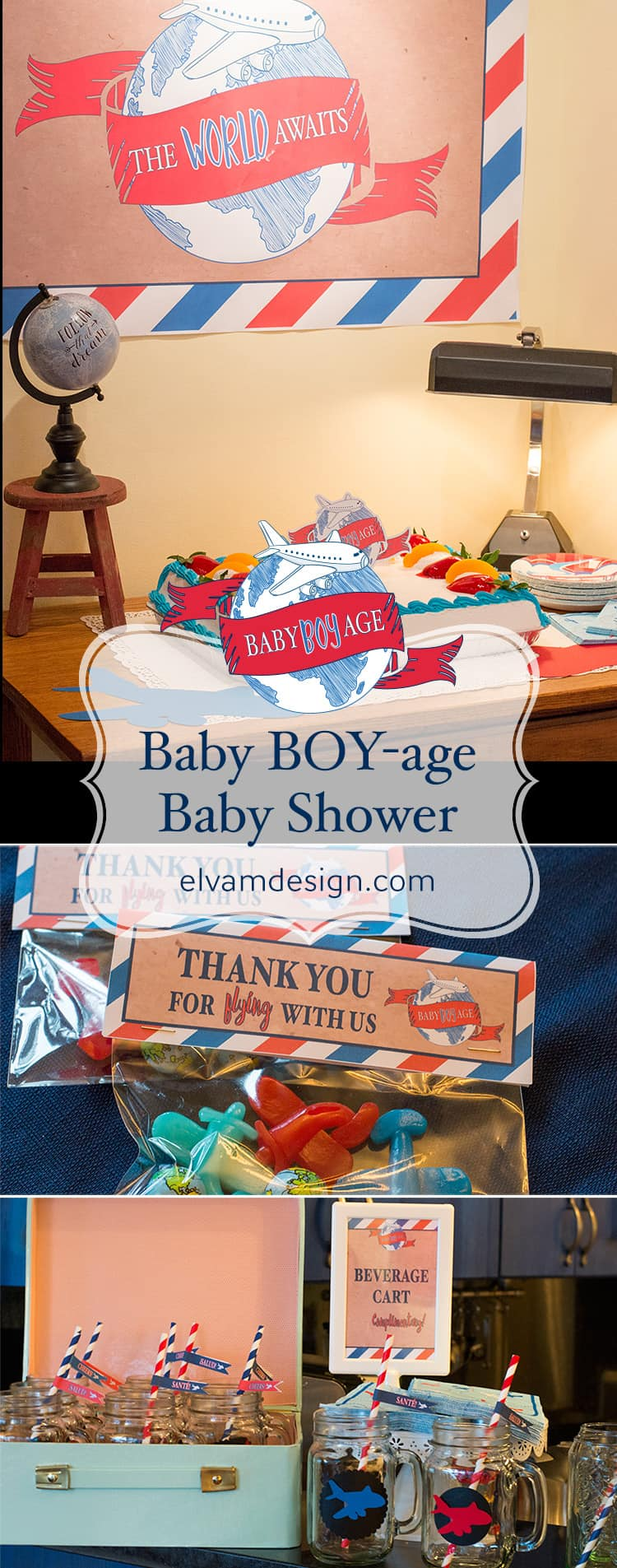 Baby Boyage Travel Theme Shower