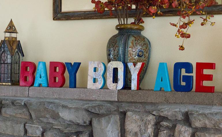 Baby BOYage DIY letters