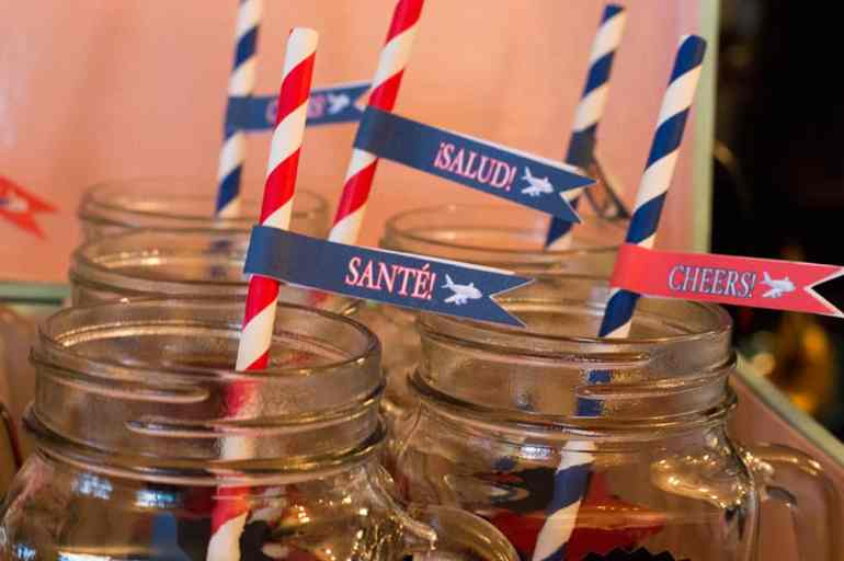 Baby BOYage Straw Flags