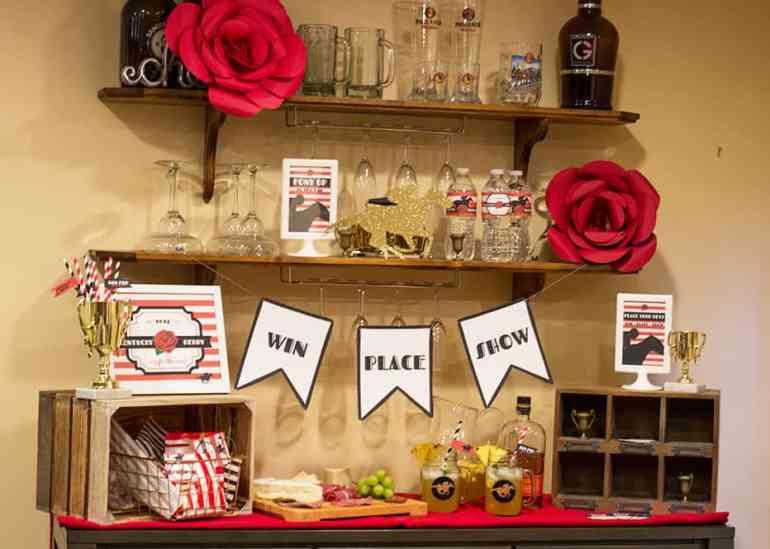 Kentucky Derby Party Bar Setup