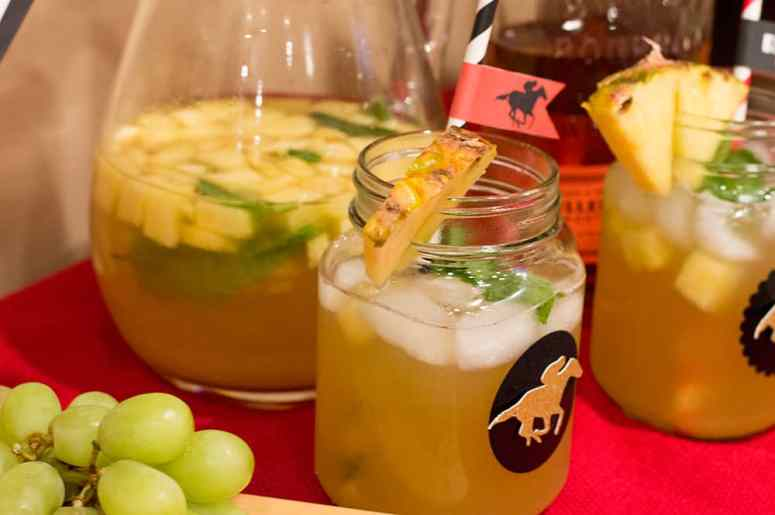 Kentucky Derby Pineapple Mint Julep Sangria