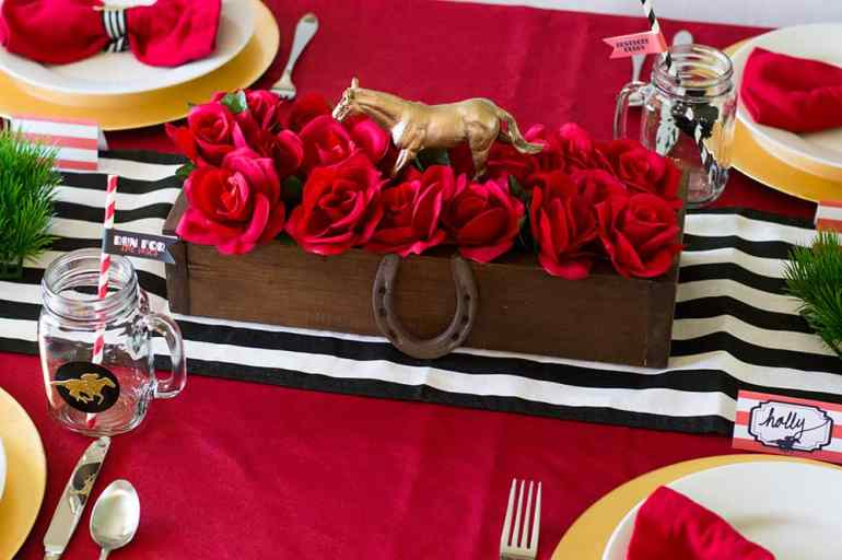 Kentucky Derby Party Centerpiece   All the details at elvamdesign.com