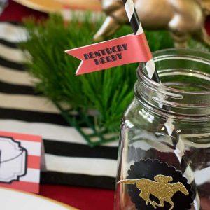 Kentucky Derby Mason Jars