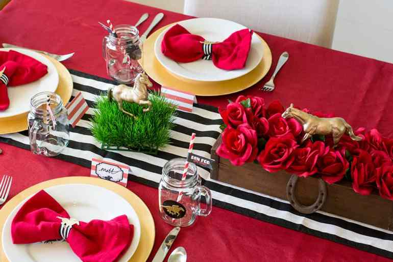 Kentucky Derby Part Tablescape